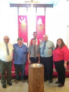 Brandon and Family with Pr. Buetow